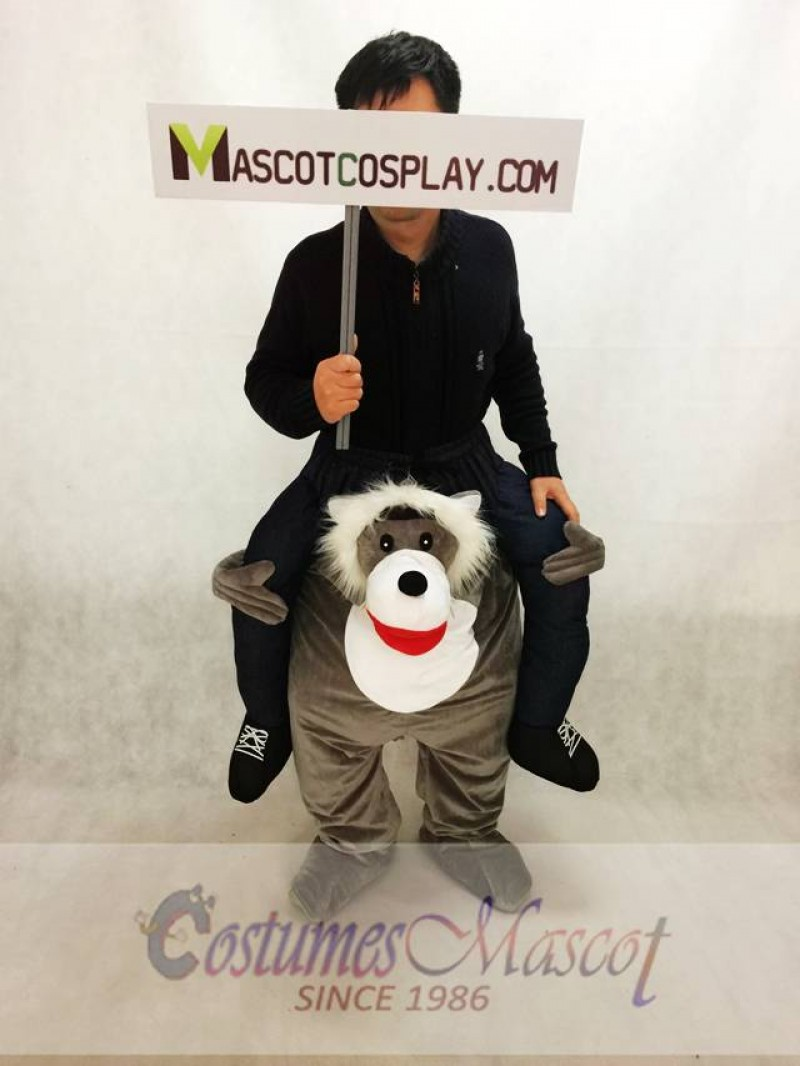 Carry Me Wolf Mascot Costume Halloween Outfit