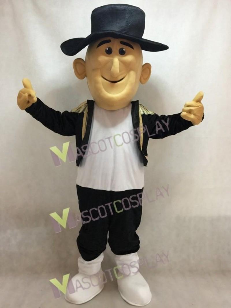 Cute Happy Matt Matador Mascot Costume