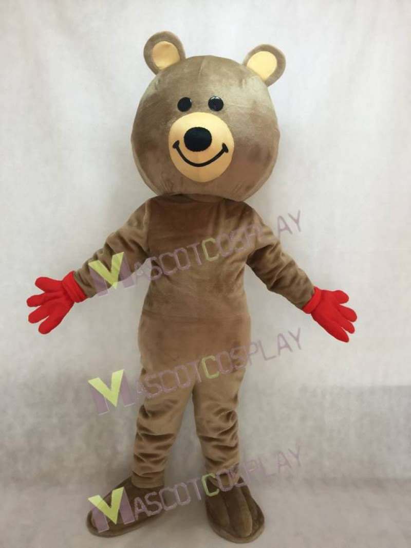 Cute Brown Brisky Bear Mascot Costume