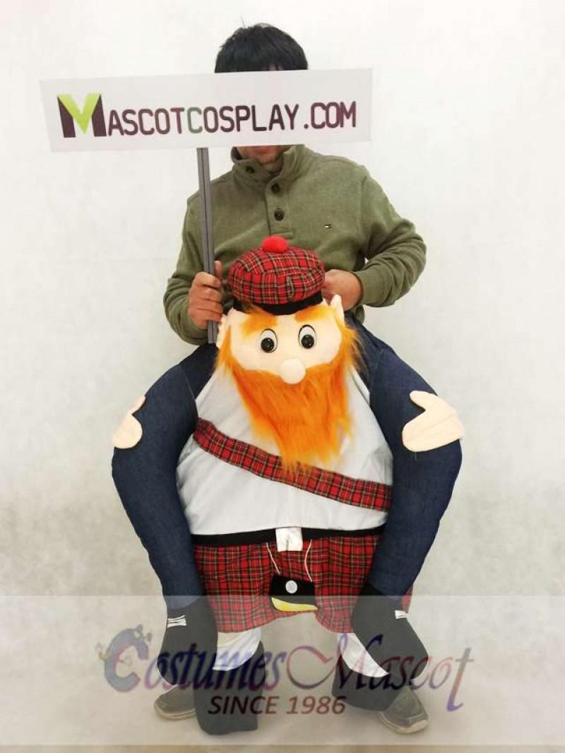 Carry Me Scottish Mascot Costume Ride On Piggy Back Scotsman