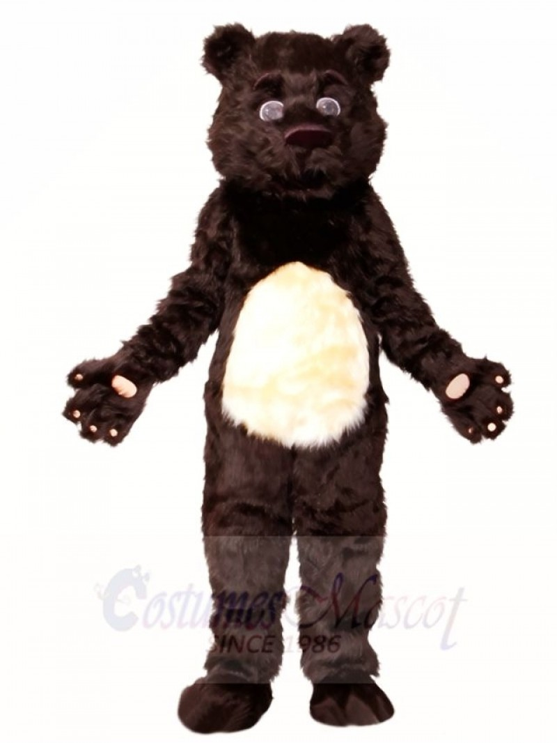 Fluffy Black Bear Mascot Costumes Animal