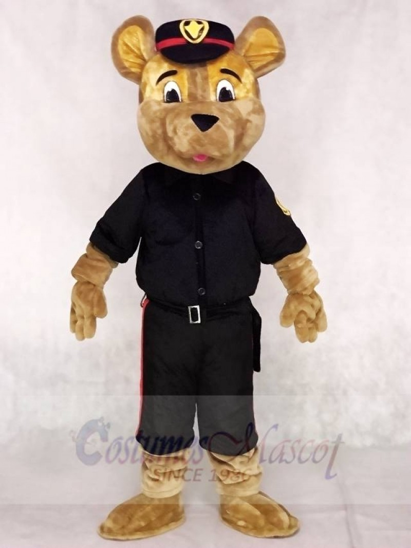 Black Saskatoon Police Service Sarge Dog Mascot Costumes Animal