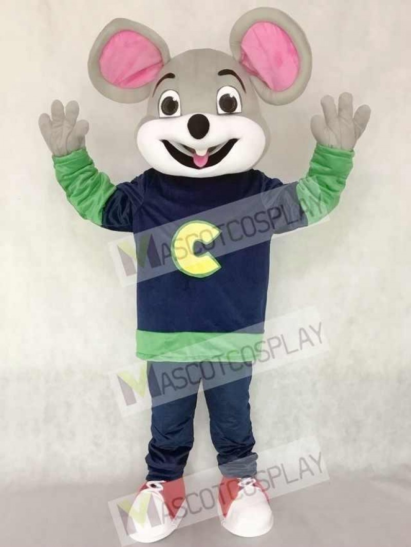 New Version Chuck E. Cheese Fast Food Promotion Mascot Costume