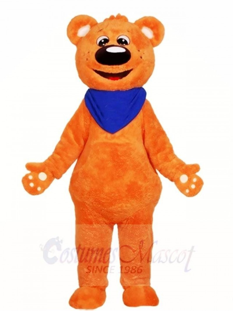 Orange Teddy Bear Mascot Costumes Animal