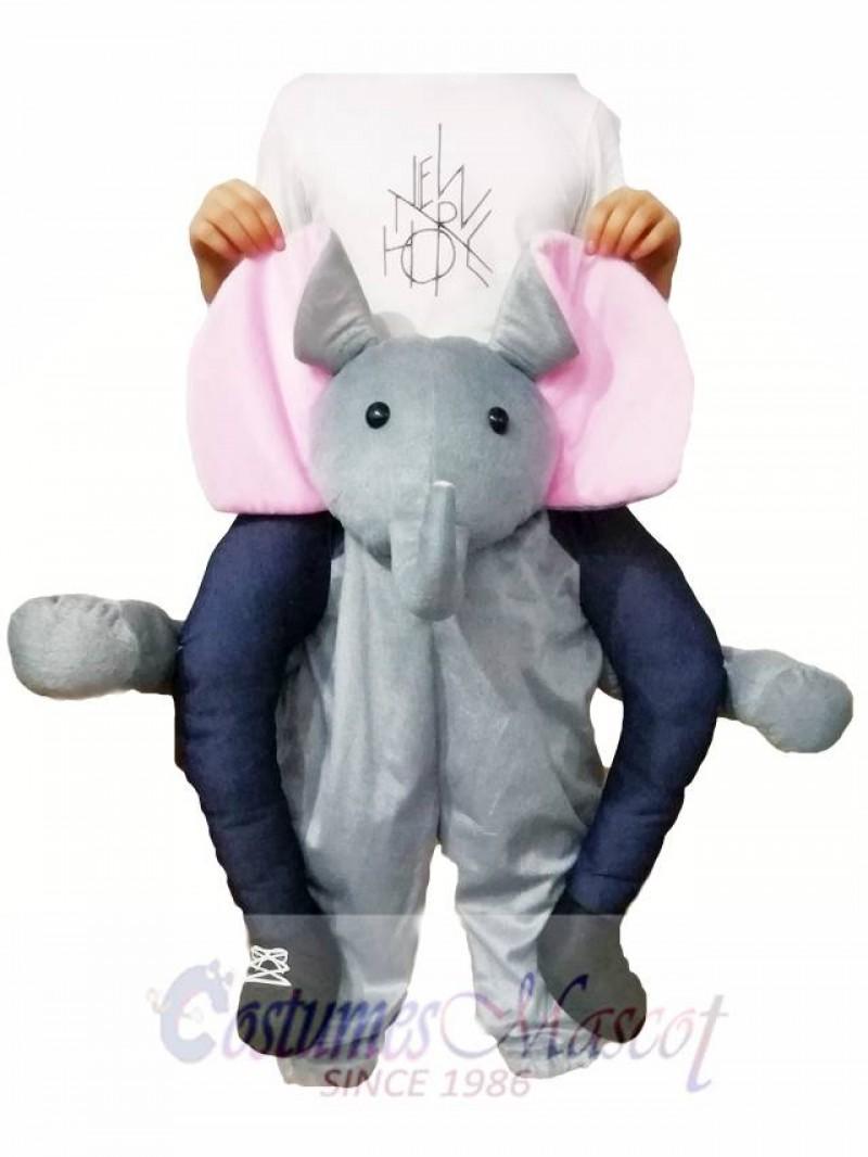 Piggyback Elephant Carry Me Ride Grey Elephant Mascot Costume