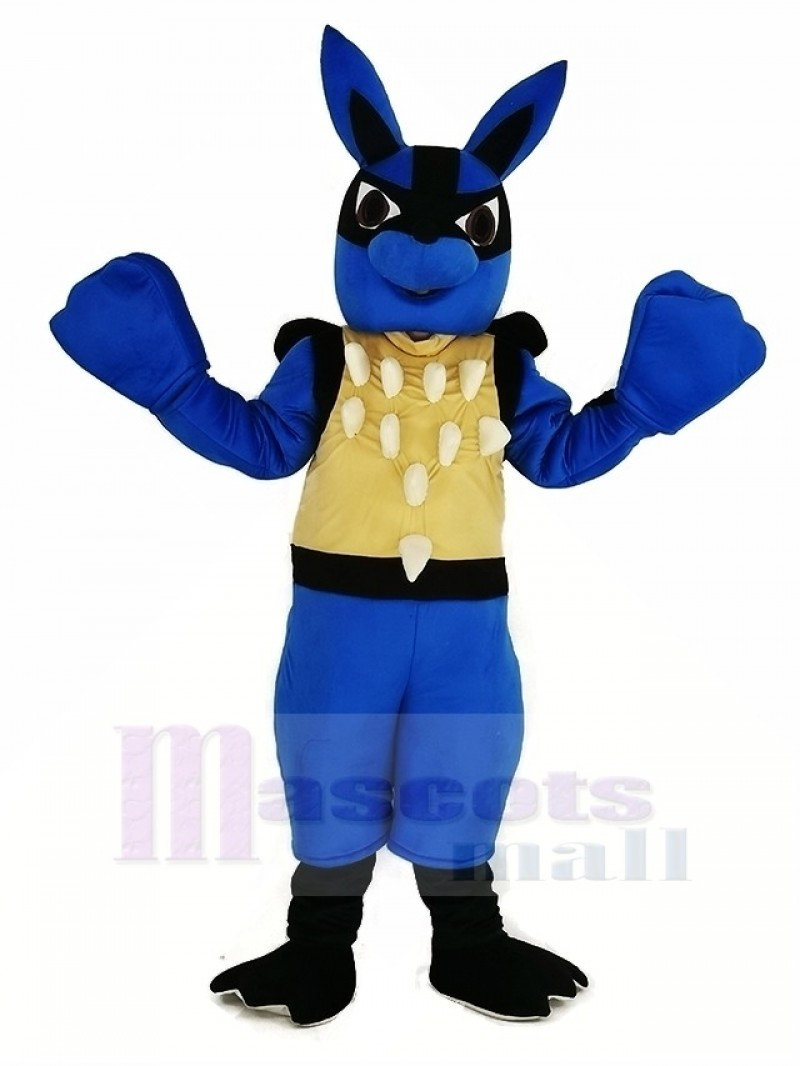 Blue Lucario Pokémon Pokemon Mascot Costume Cartoon
