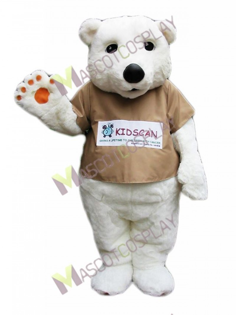 High Quality Adult Polar Bear Mascot Costume