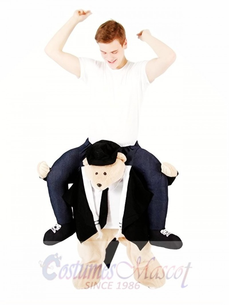 Piggyback Rabbi Carry Me Ride on Rabbi Bear Mascot Costume