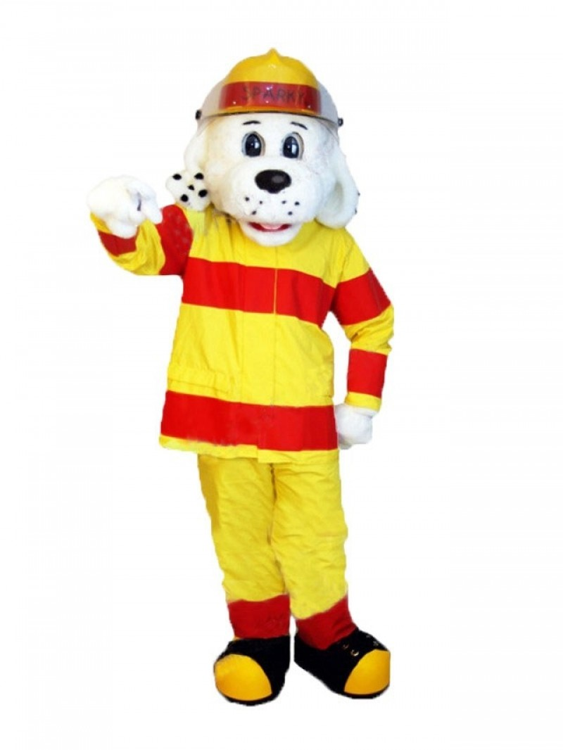 Realistic Sparky the Fire Dog Mascot Costume Animal NFPA Mascot Suit