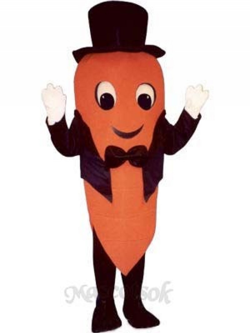 Carrot with Tailcoat & Hat Mascot Costume