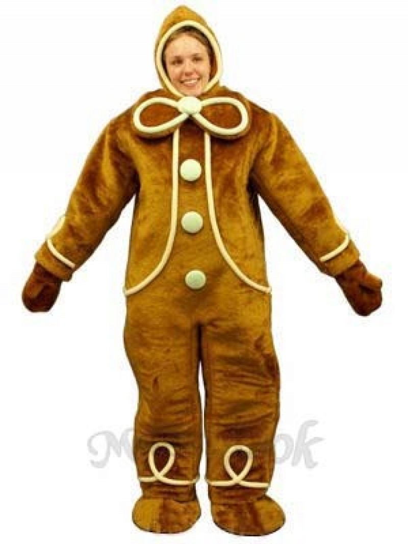 Ginger Bread with Hood Mascot Costume