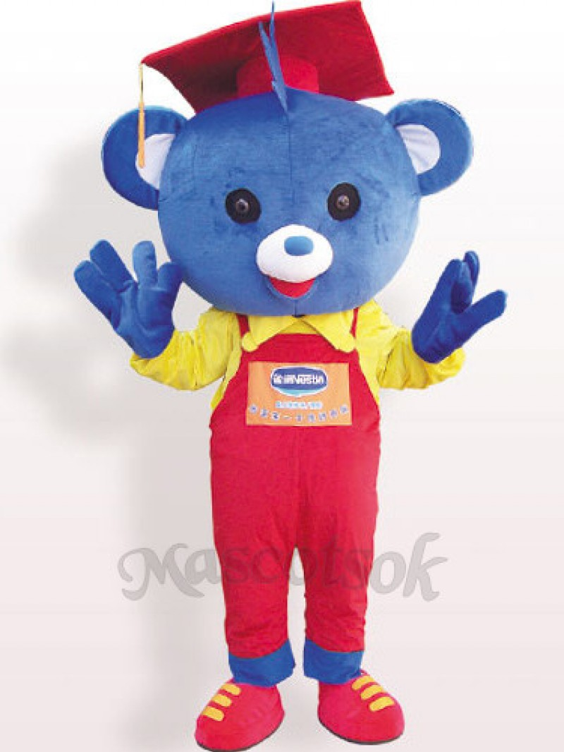 Doctor Bear Plush Adult Mascot Costume