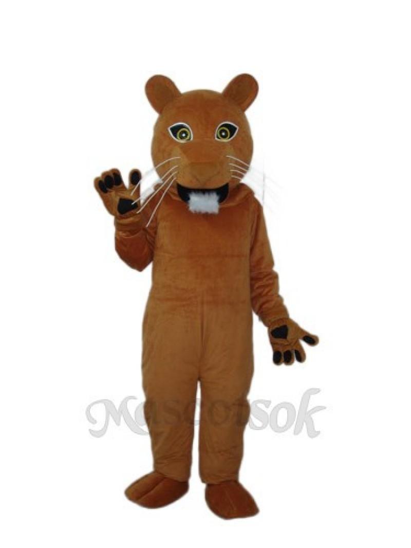Golden Cougar Puma Mascot Adult Costume