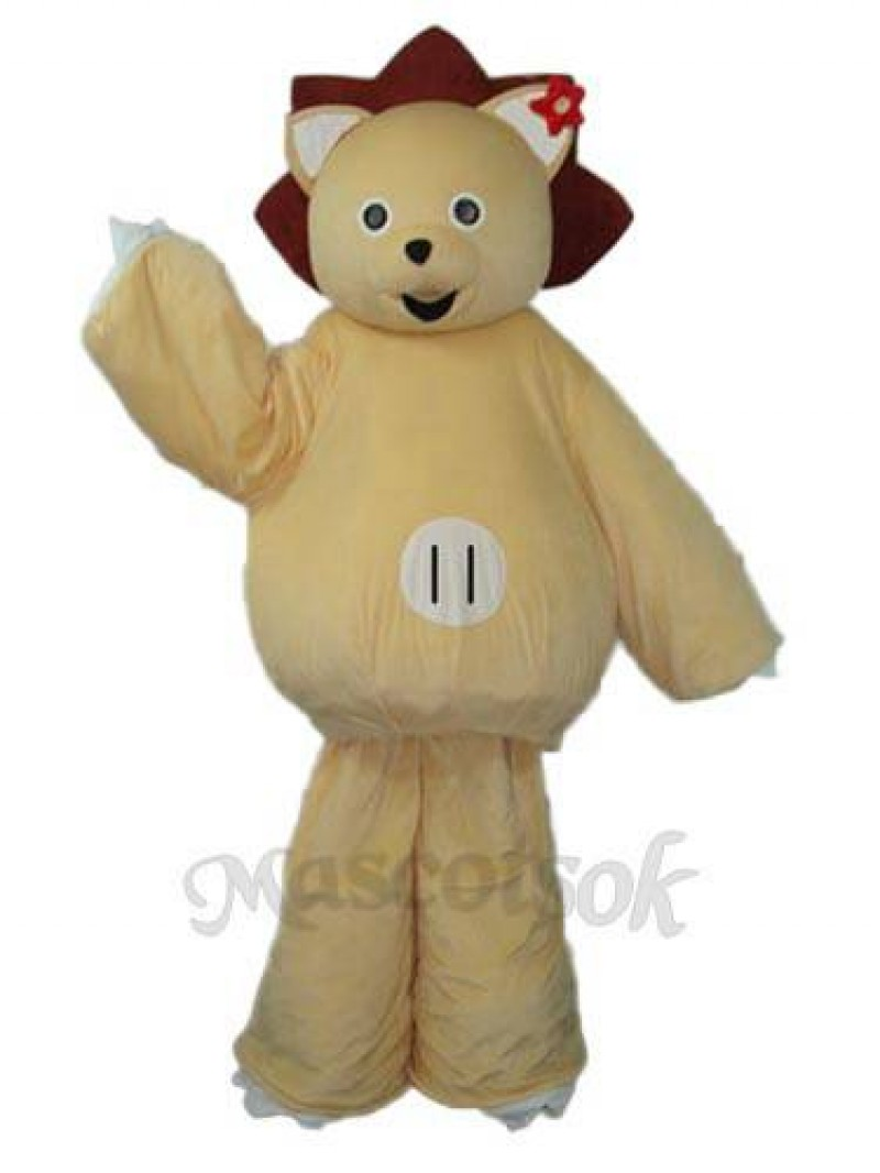 Modified Version of Golden Lion Mascot Adult Costume