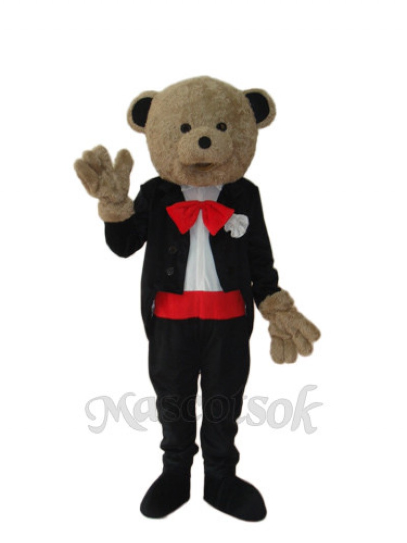 Wedding Bear Mascot Adult Costume