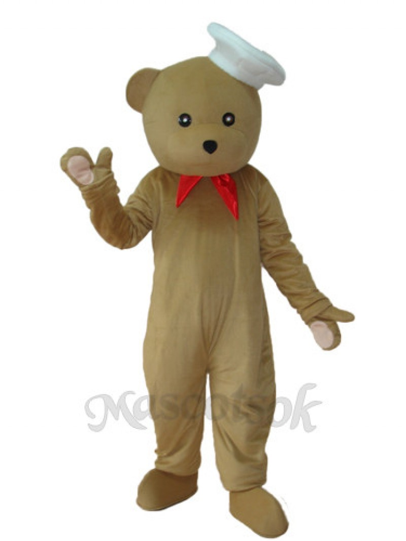 Chef Bear Mascot Adult Costume