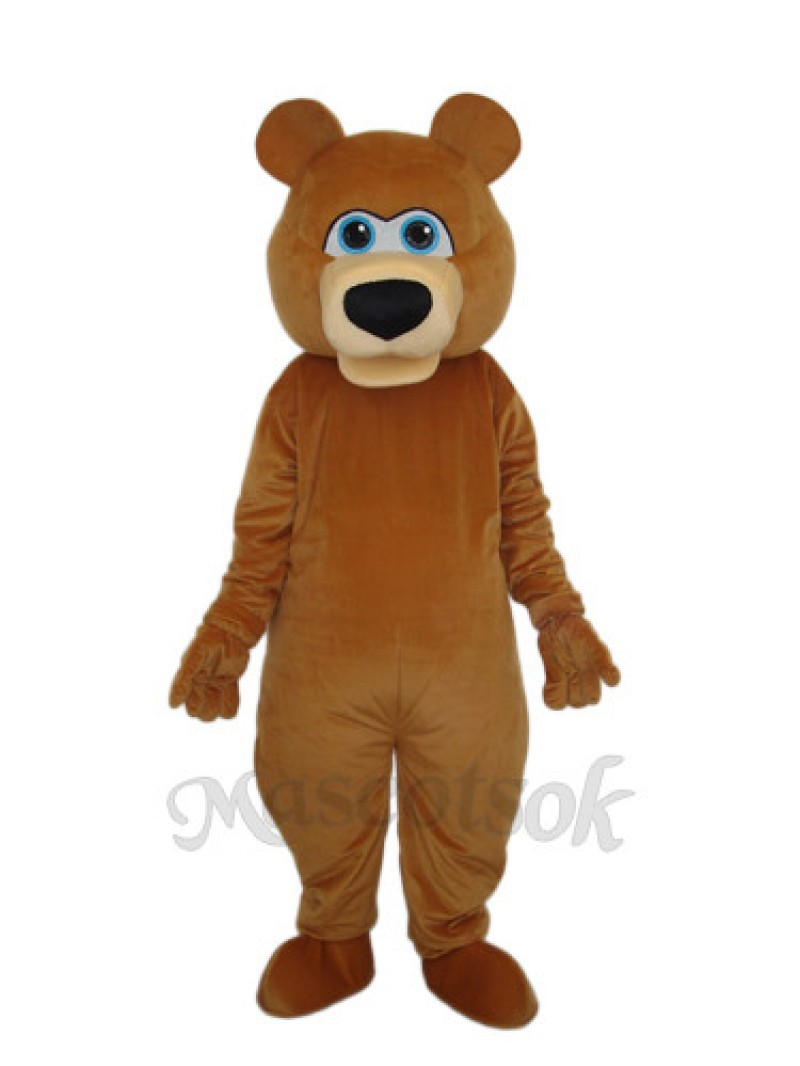 Brown Bear Adult Mascot Funny Costume