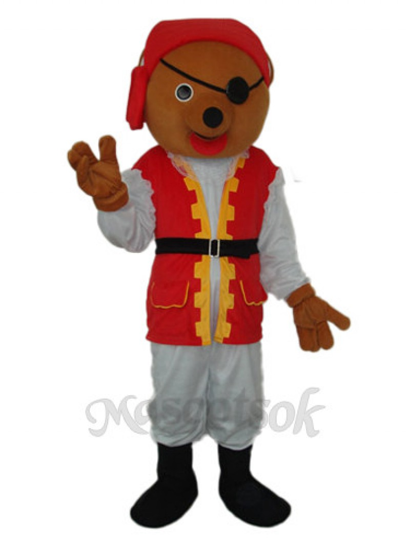 Pirate Bear Mascot Adult Costume