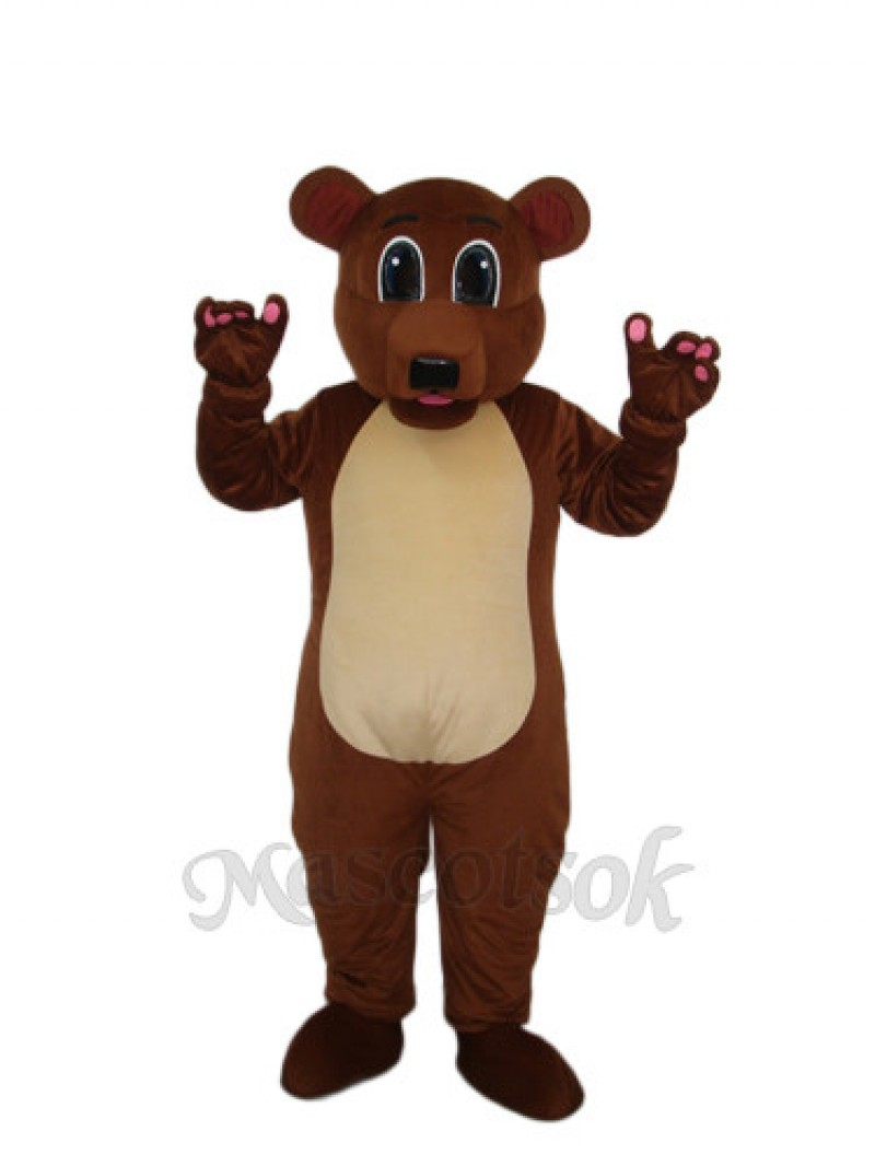 Golden Brown Bear Mascot Adult Costume