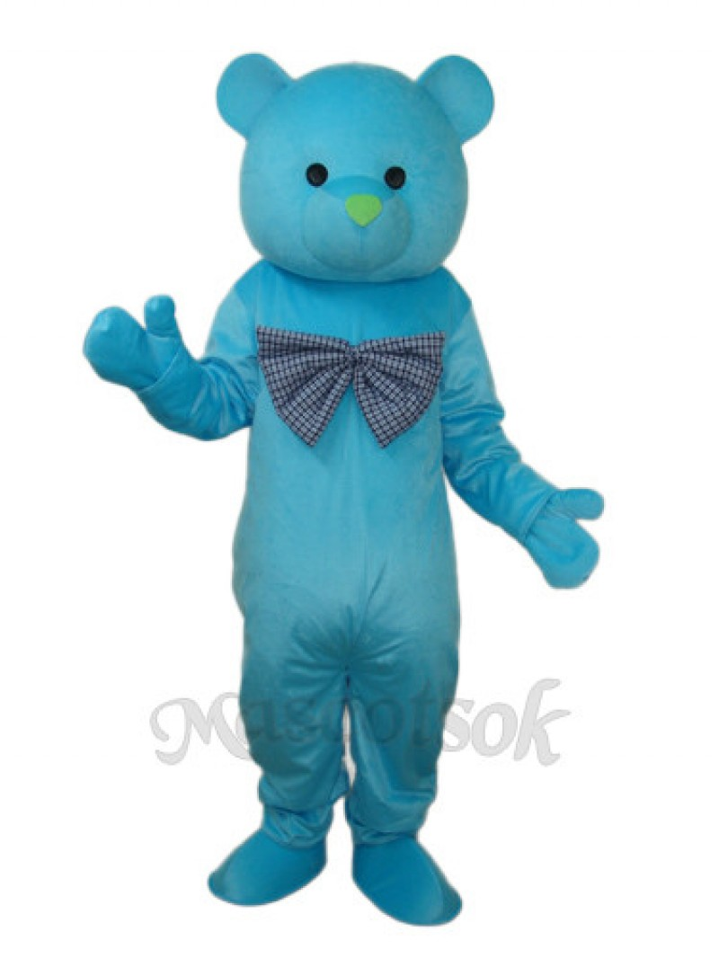 Happy Blue Bear Mascot Adult Costume