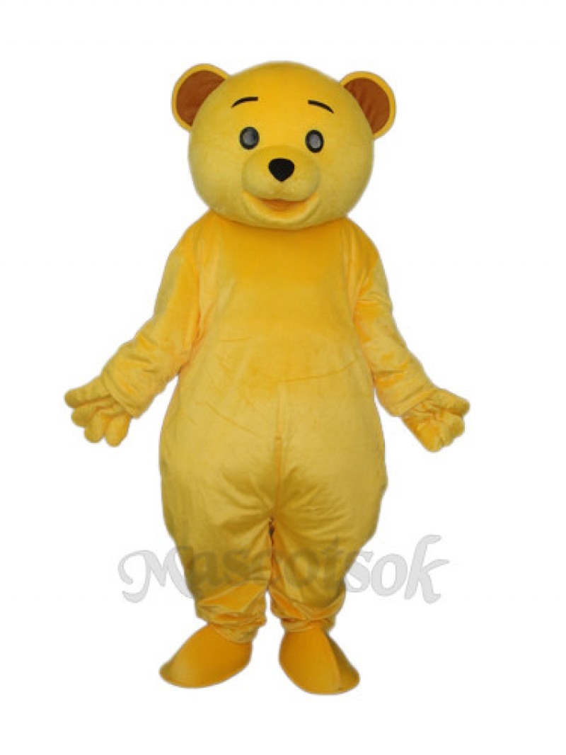 Yellow Teddy Bear Mascot Adult Costume