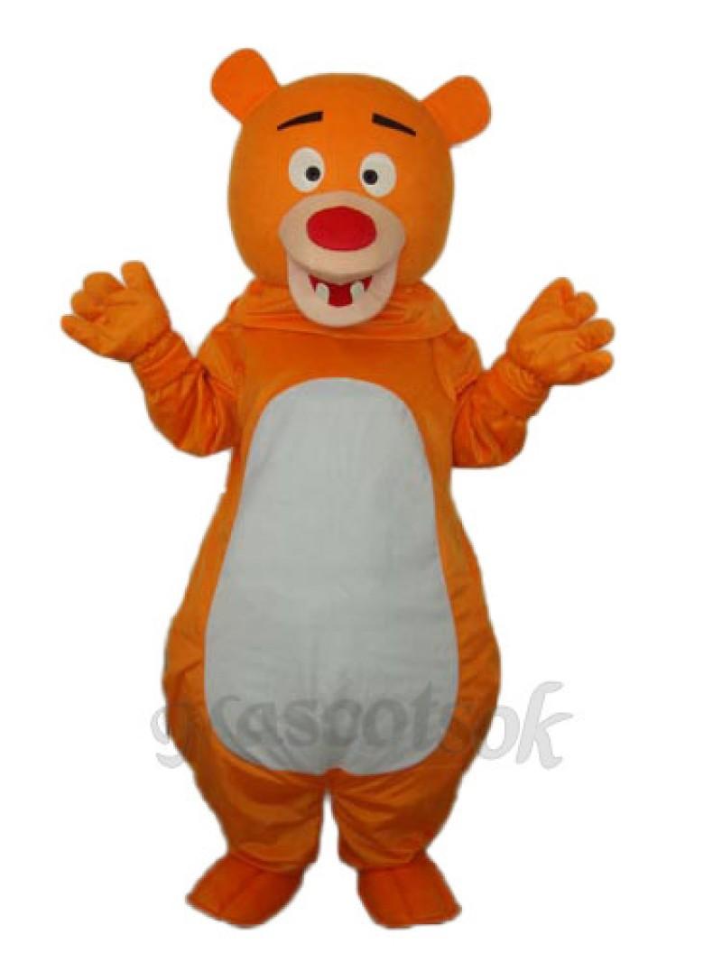 Short-haired Orange Bear Mascot Adult Costume