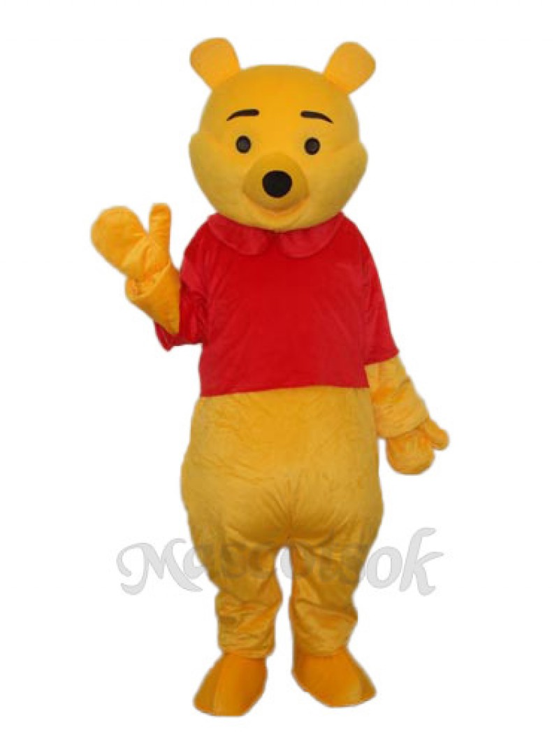2nd Version Pooh Bear Mascot Adult Costume