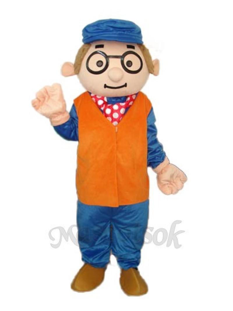 Glasses For The Elderly Mascot Adult Costume