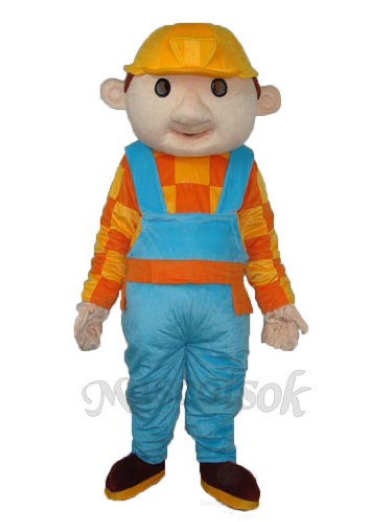 Bob the Builder Yellow Hat Construction Boy Mascot Adult Costume