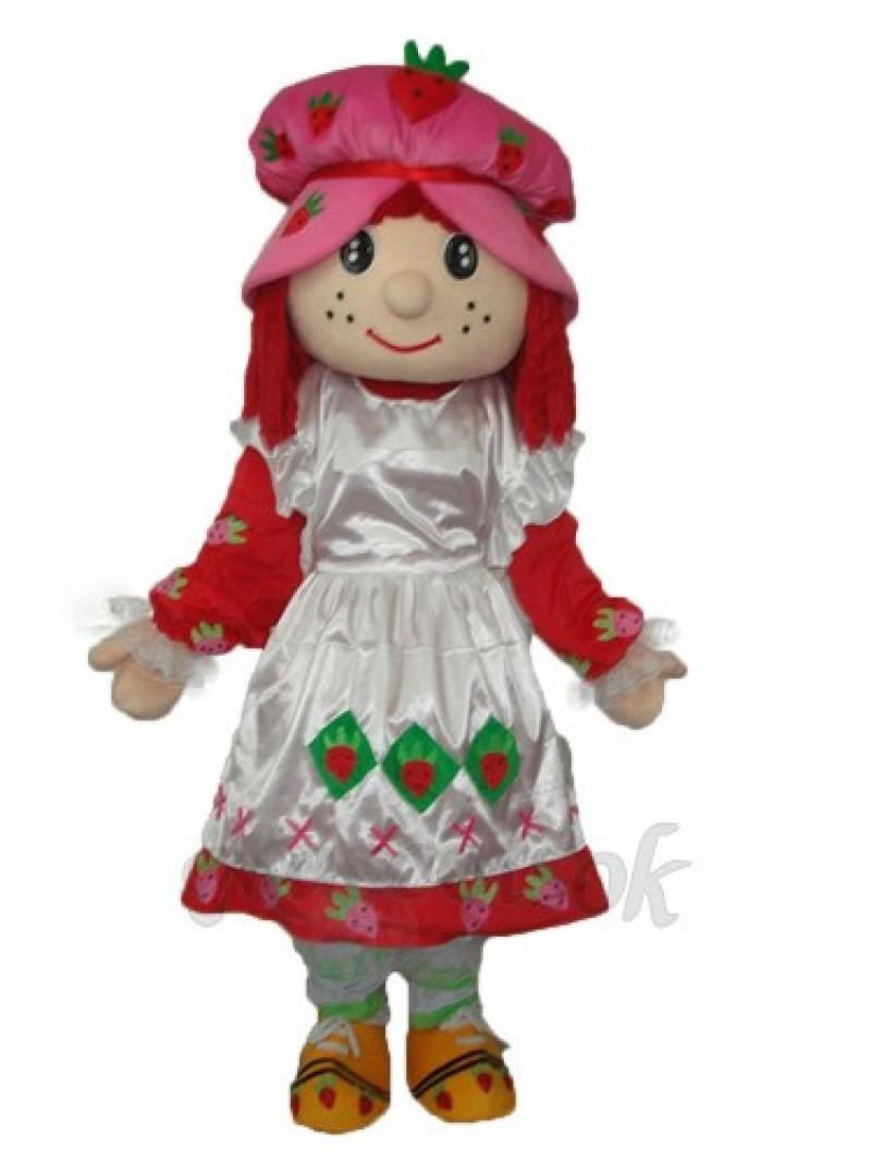 Strawberry Girl 2 Mascot Adult Costume
