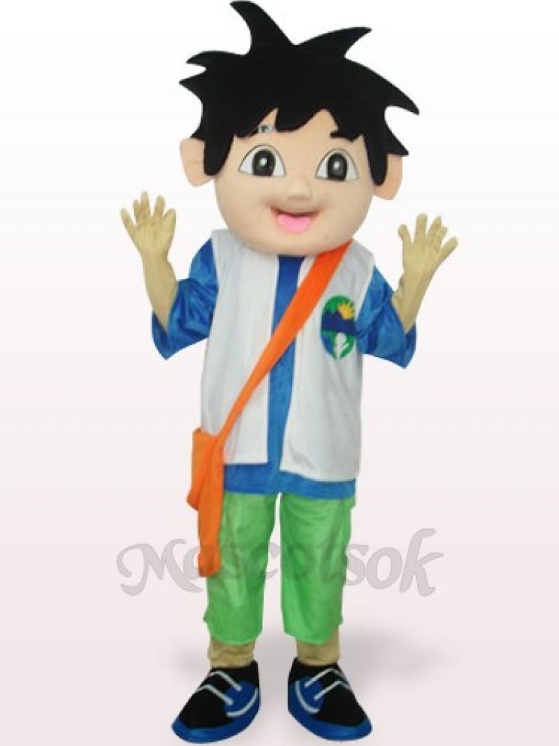 Blue And White Delgo Plush Adult Mascot Costume