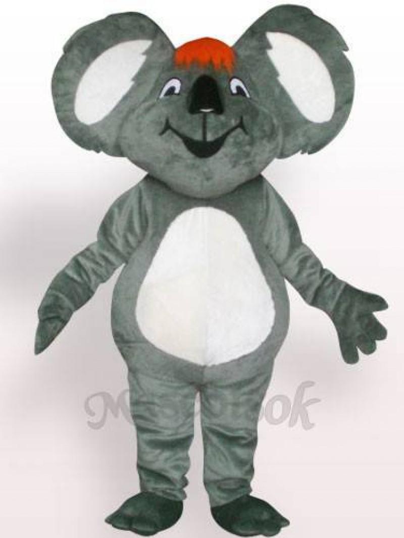 Koala With Orange Hair Plush Adult Mascot Costume