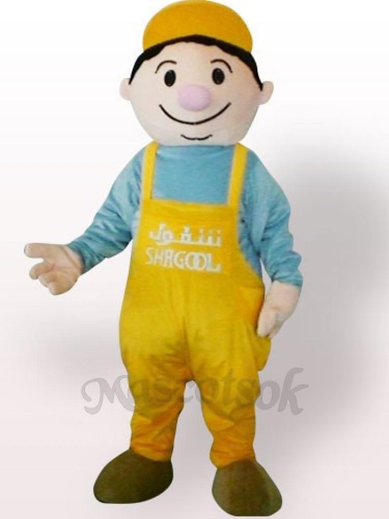 Miner Boy Plush Adult Mascot Costume