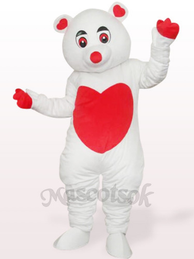 White Care Bear Plush Adult Mascot Costume