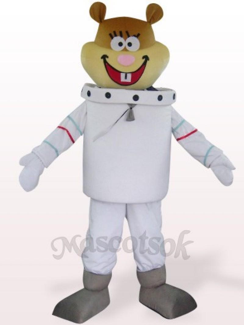 White Space Navigation Mouse Plush Mascot Costume
