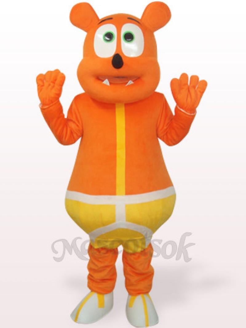 Yellow Bear Monster Plush Adult Mascot Costume