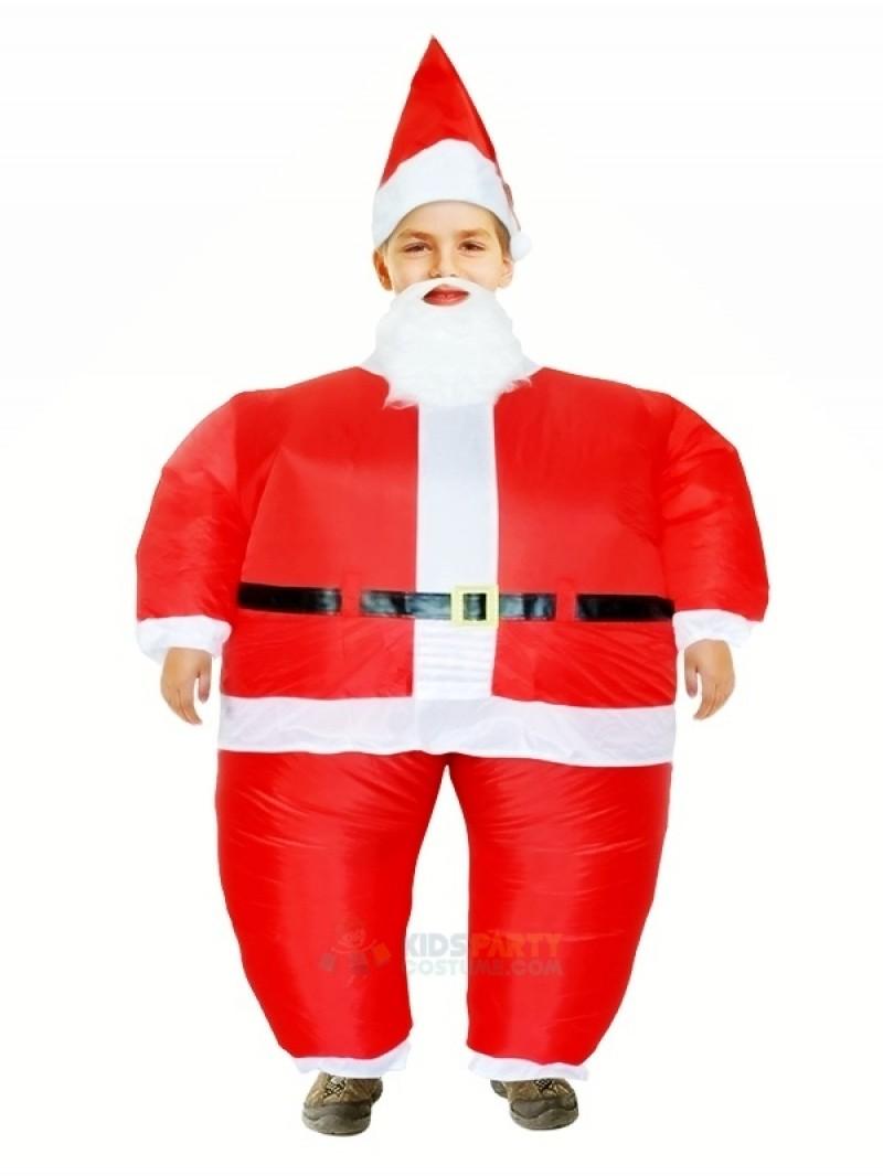 Santa Claus Inflatable Halloween Christmas Xmas Mascot Costumes Cartoon For Kids