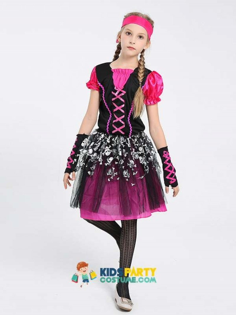 Girls Pirate Buccaneer Book Week Fancy Dress Halloween Costume
