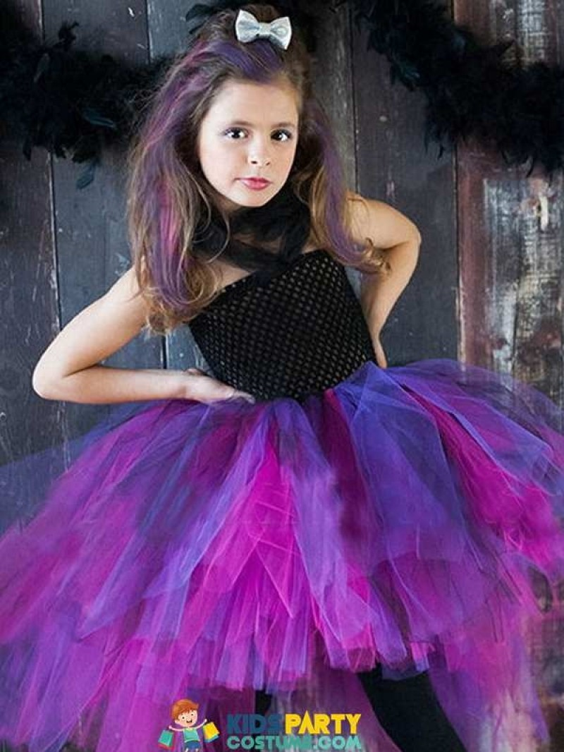 Wild Queen Children Girl Tutu Dress Halloween Girls Dresses Cosplay Costume Little Witch Vampire Pirate Tutu Dress