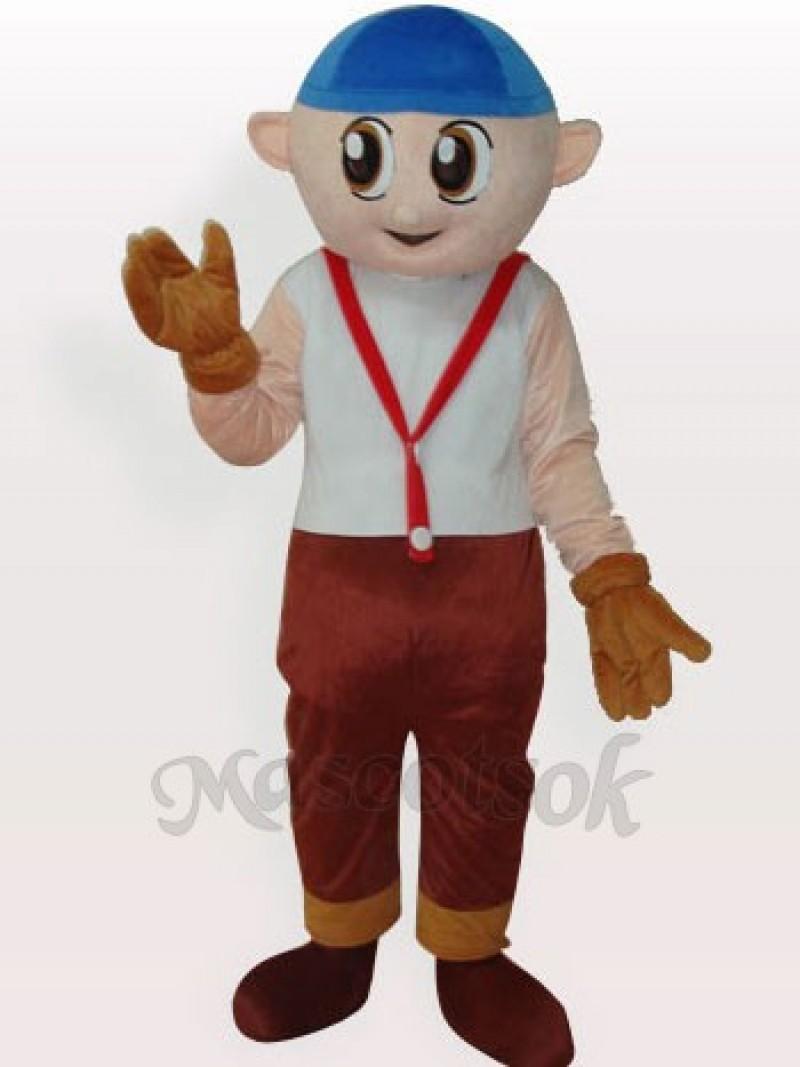 Boy Short Plush Adult Mascot Costume