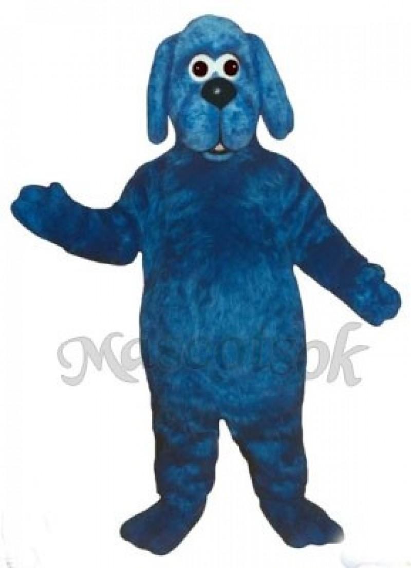 Cute Old Blue Dog Mascot Costume