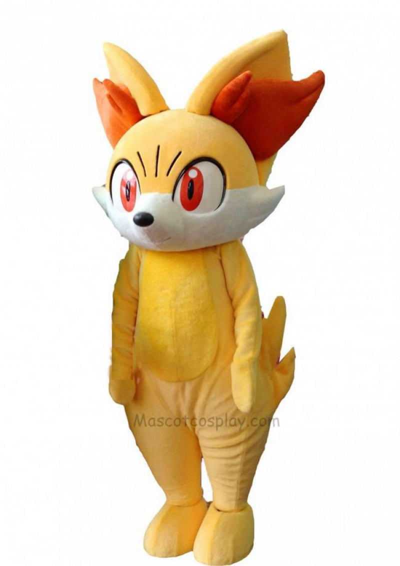 Yellow Fox Fired Fennekin Mascot Costume Pokemon Pokémon GO Pocket Monster