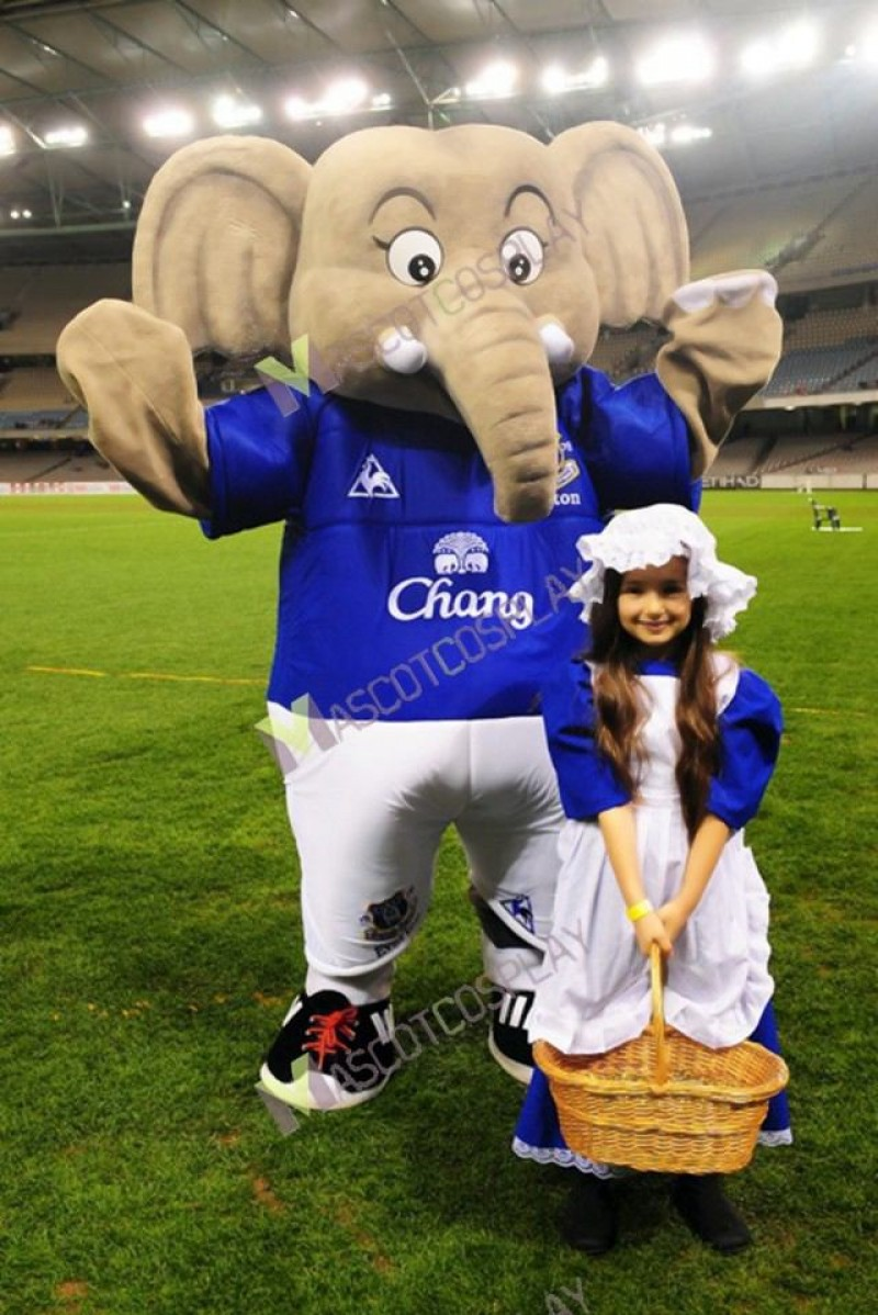 Changy The Elephant Mascot Costume Everton Football Club Mascot Costume
