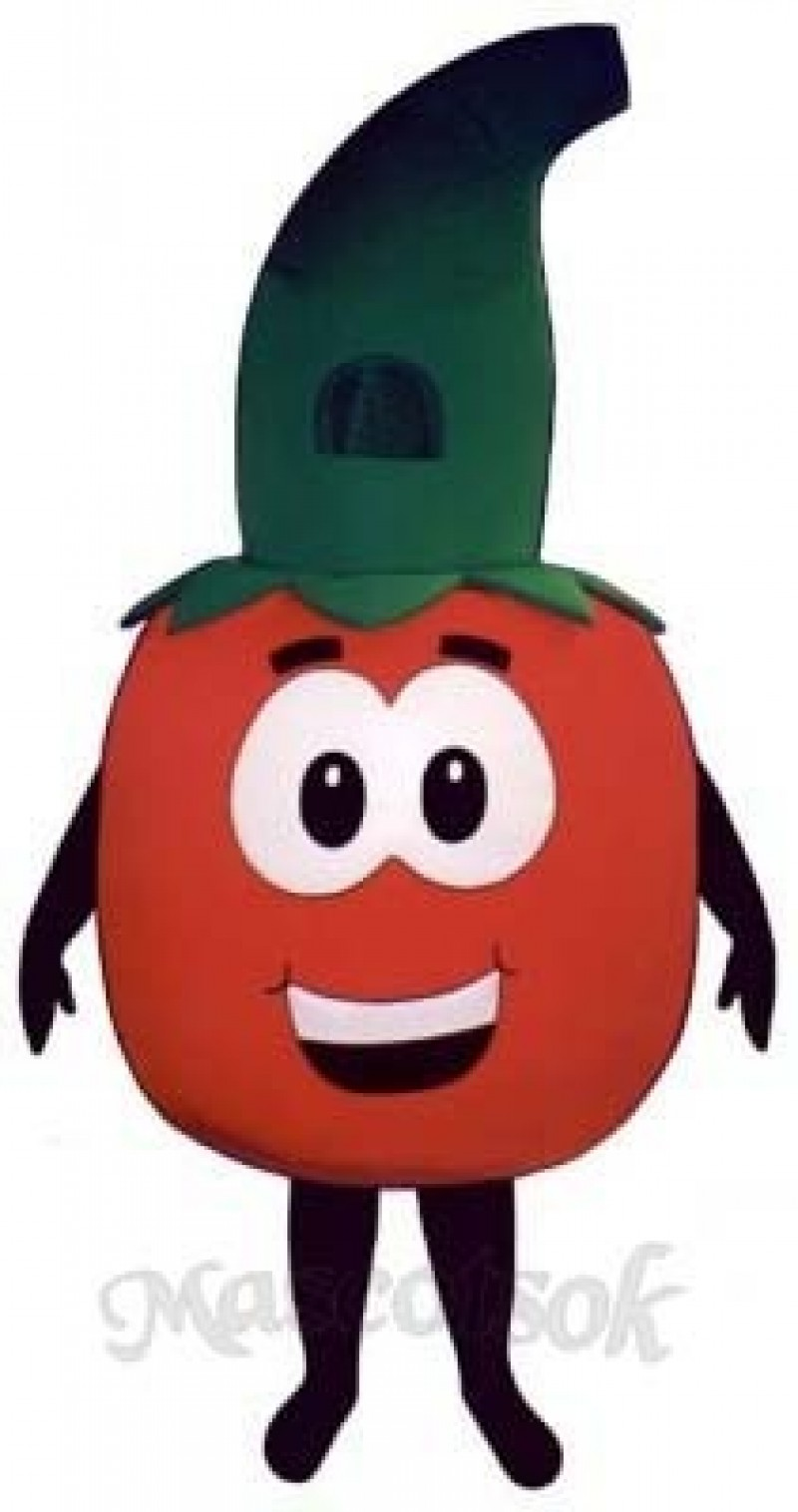 Tomato with Stem Mascot Costume