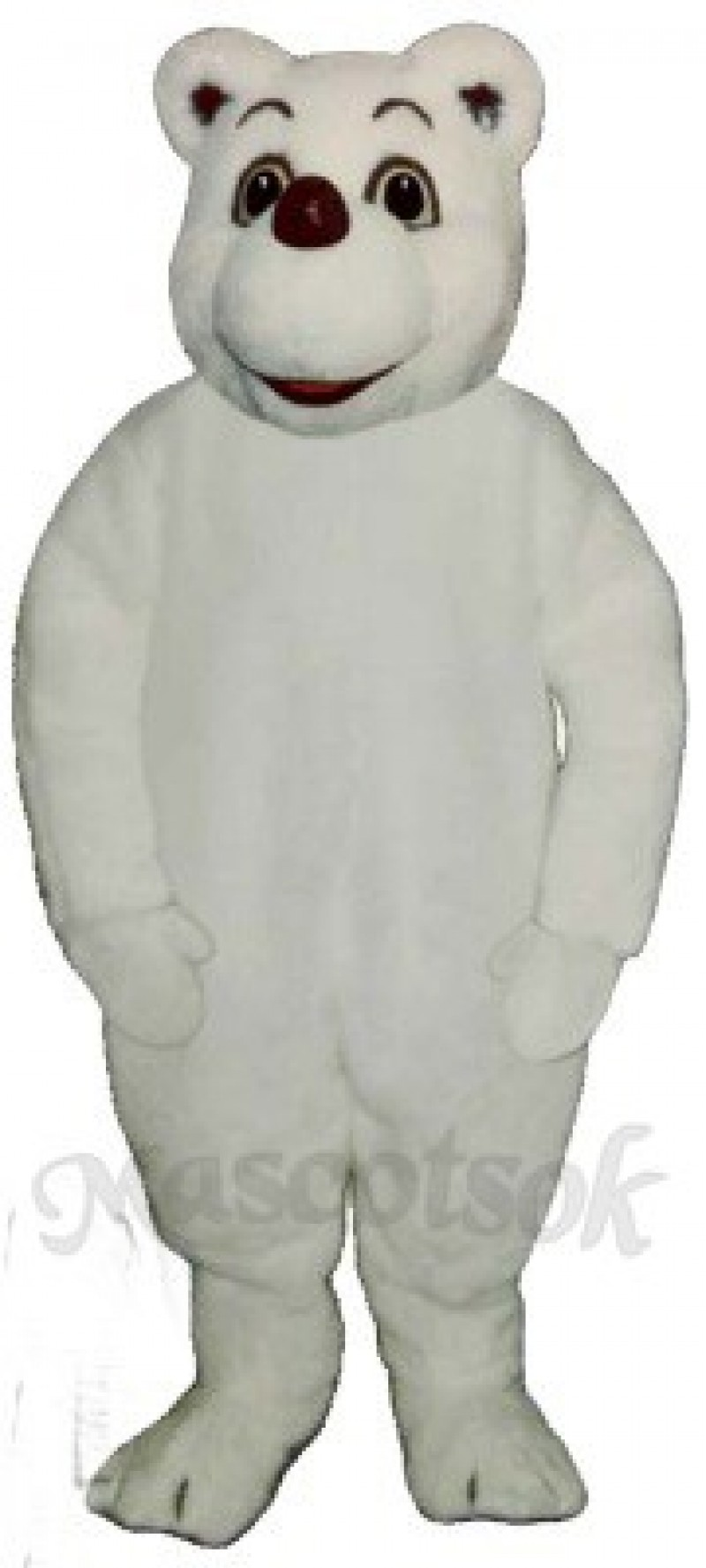 Baby Polar Bear Mascot Costume