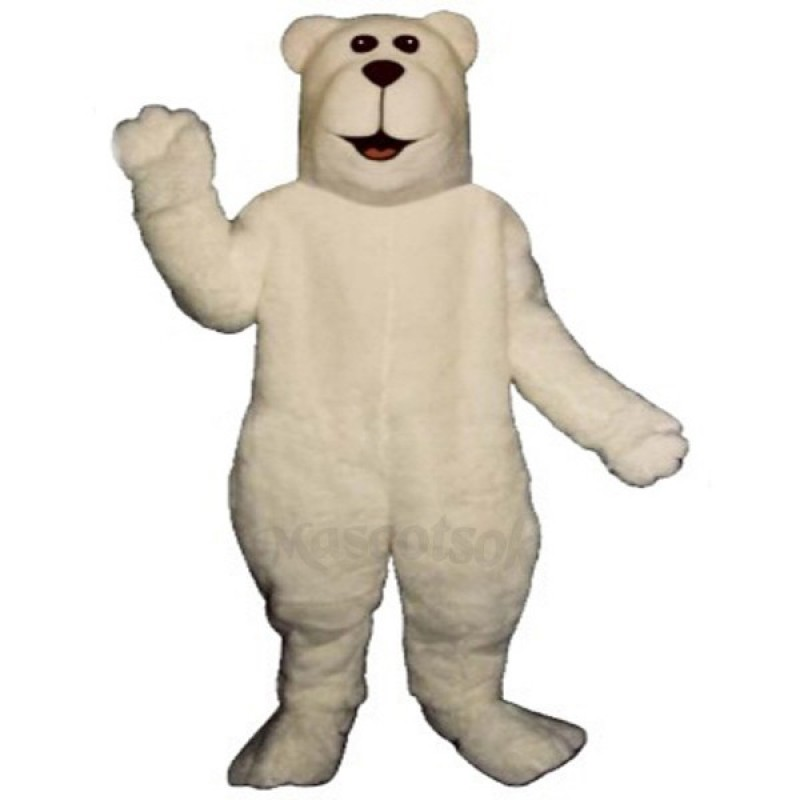 Arctic Bear Christmas Mascot Costume