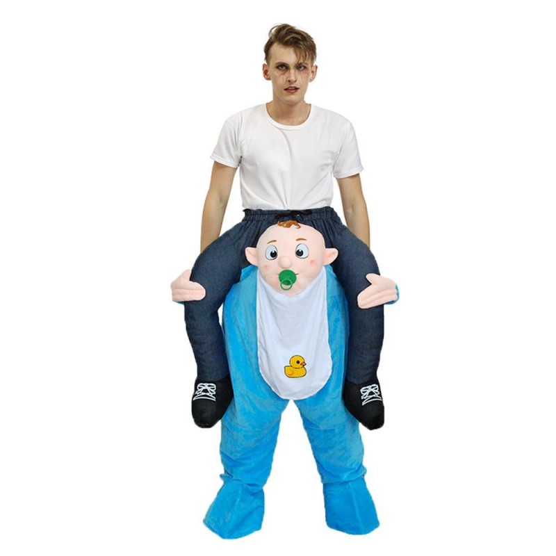 Baby Infant Carry Me Ride On Piggy Back Mascot Costume Funny Fancy Dress