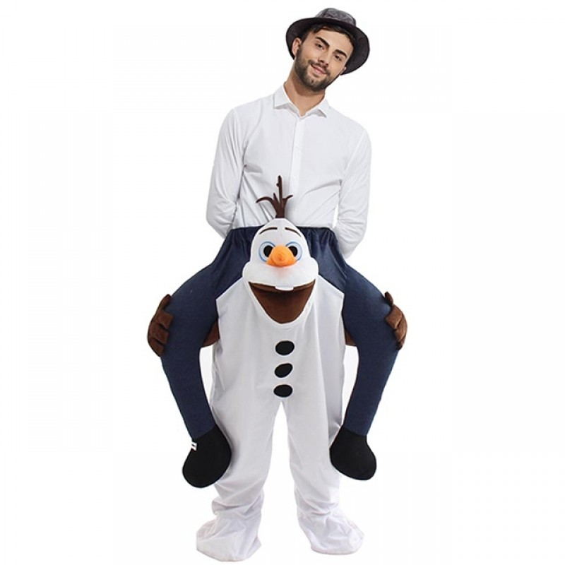 Frozen Olaf Carry me Ride on Halloween Christmas Costume for Adult/Kid