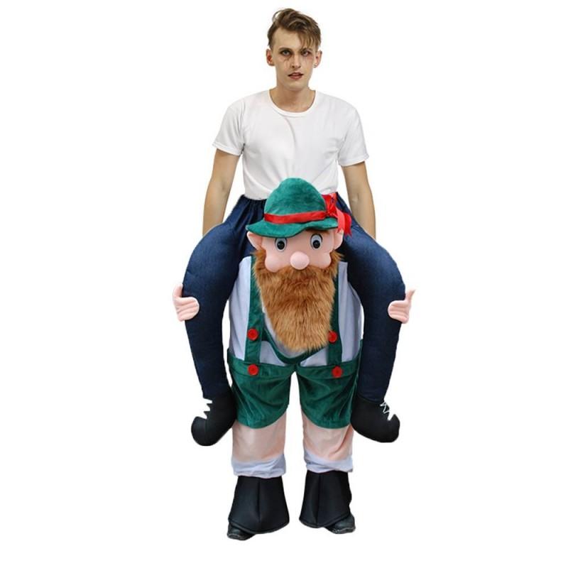 Beer Man Scotsman Leprechaun Carry me Ride on Halloween Christmas Costume for Adult/Kid