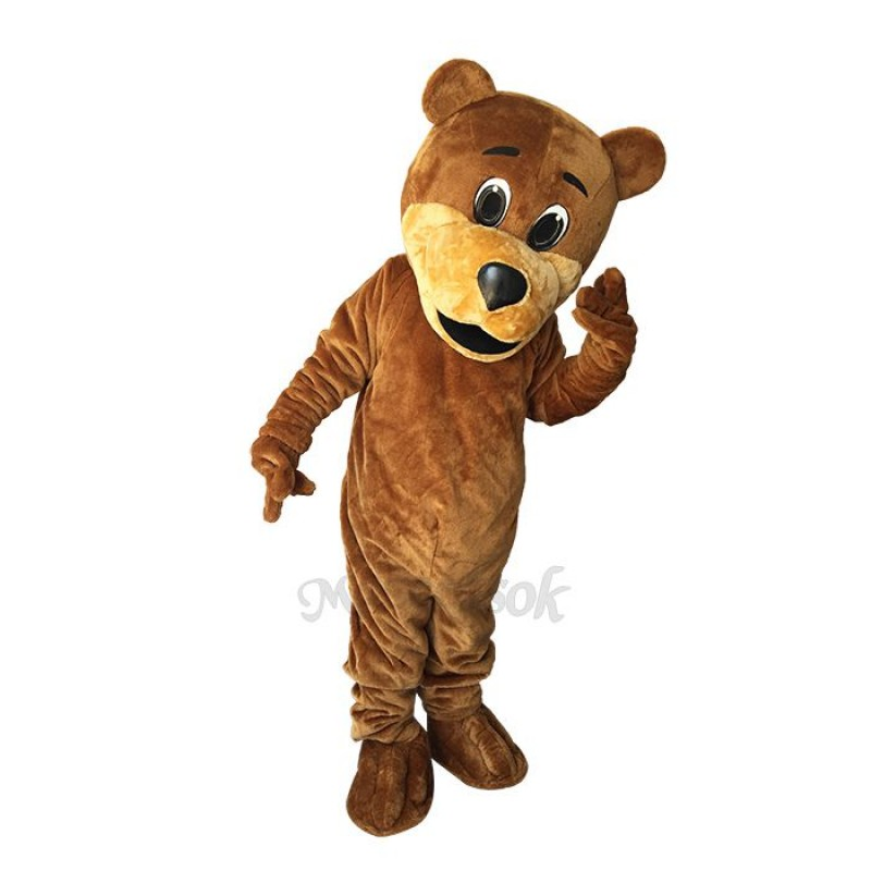 Cute Brown Benny Bear Mascot Costume